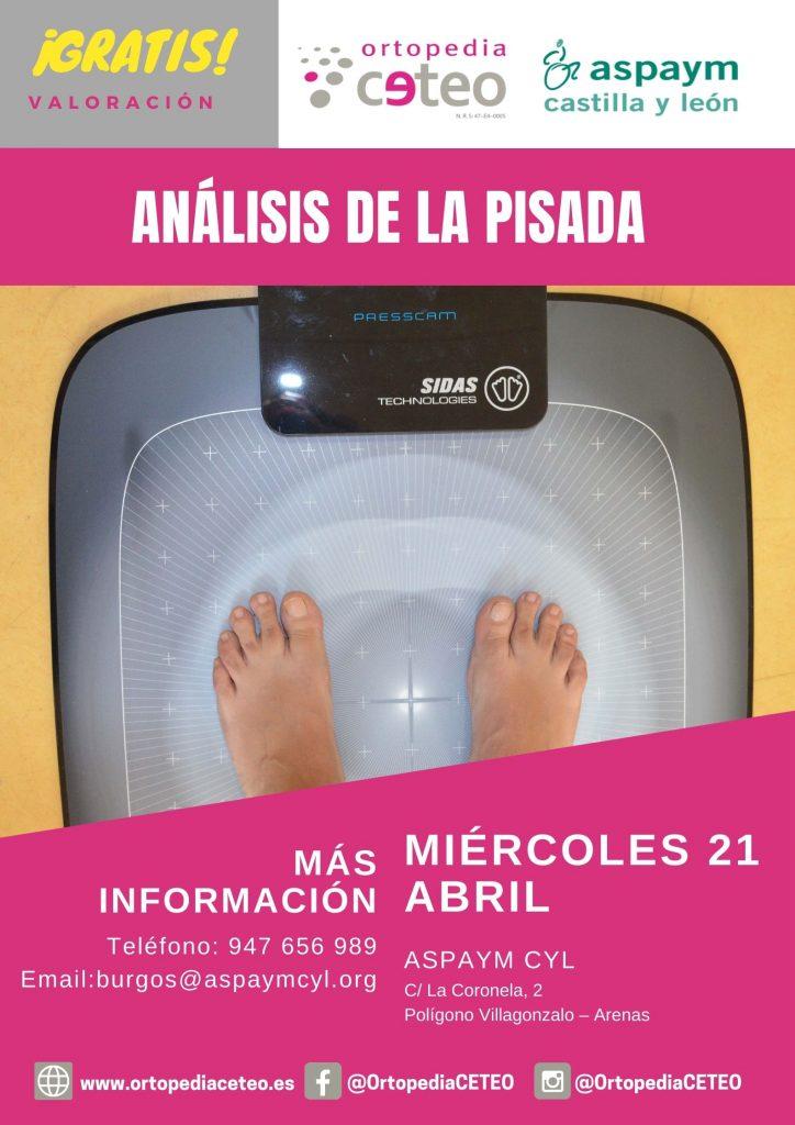 Análisis de la pisada gratuito en la sede que ASPAYM CyL tiene en Burgos